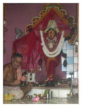 Shyam Sundar Dash at Maabatakali Mandir