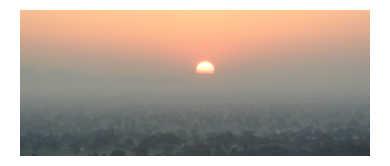 Sunset over Jaipur